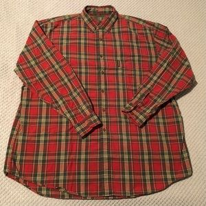 Abercrombie & Fitch The Big Shirt Red Flannel